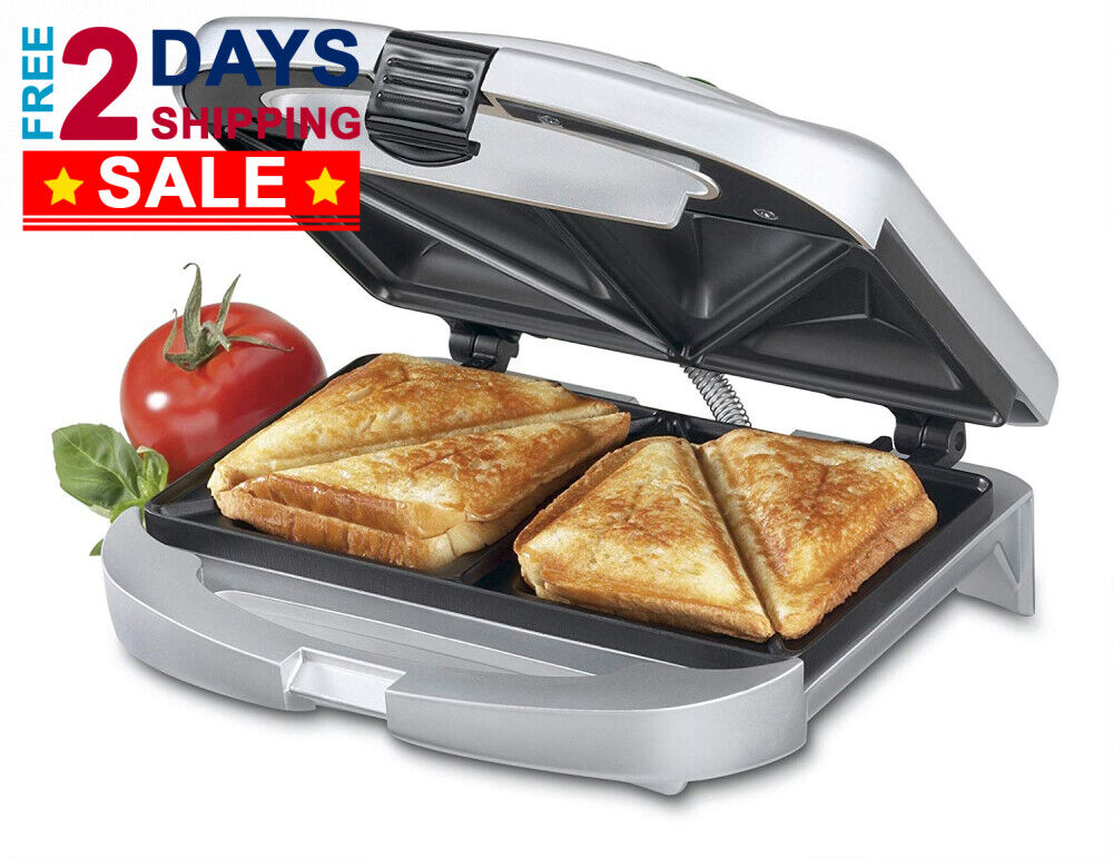 Cuisinart Sandwich Grill - Nonstick Baking Plates, Raised Ed