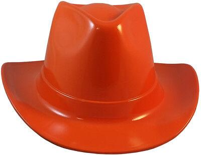 Occunomix Cowboy Style Safety Hard Hat Hi Viz Orange Ratchet Suspension