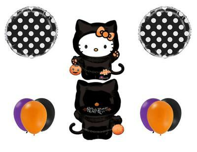 HALLOWEEN HELLO KITTY Party Balloons Decoration Supplies Trick Or Treat Birthday - Hello Kitty Halloween Party Supplies
