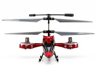 Mini LED Light AVATAR Z008 4CH 2.4G Metal RC Remote Control Helicopter GYRO Red