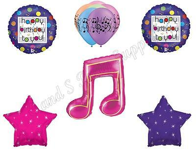 MUSIC NOTE Fresh Beat Band Birthday Party Balloons Decoration Supplies Dance - Music Birthday Decorations
