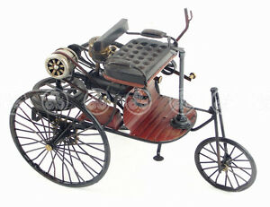 Handmade iron tin metal art car vehicles 1883 mercedes for Mercedes benz iron