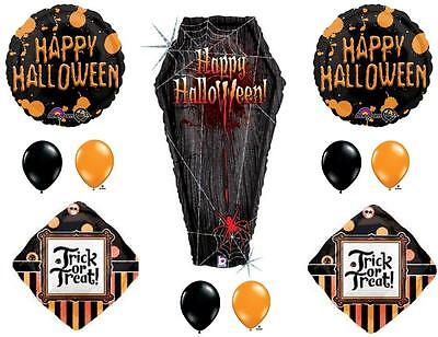 Anagram Halloween Balloons (HALLOWEEN COFFIN Party Balloons Decoration Supplies Vampire Trick Or Treat)