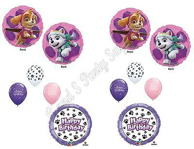 SKYE & EVEREST PAW PATROL 10 PC. Birthday Party Balloons Dec