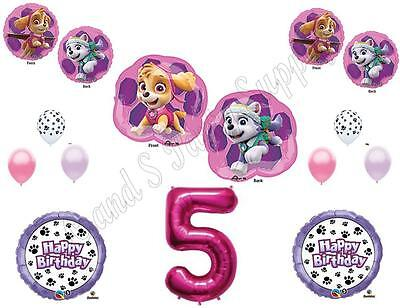 SKYE & EVEREST 5th Paw Patrol Birthday Party Balloons Decora