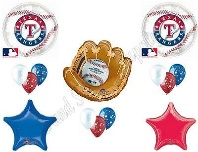 TEXAS RANGERS BASEBALL Birthday Party Balloons Decoration Supplies Game -