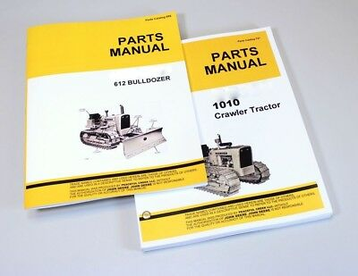 Parts Manual For John Deere 1010 Crawler Tractor Catalogs 612 Dozer Bulldozer