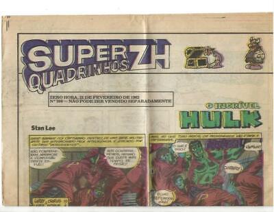 Super Quadrinhos ZH  #104 1982  Portuguese Hulk Story!, usado comprar usado  Enviando para Brazil