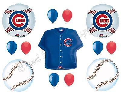 Balloon Decorations Chicago (CHICAGO CUBS BASEBALL Happy Birthday Party Balloons Decoration Supplies)