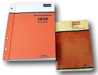 Case 1830 Skid Steer Uni-loader Owner Operators Shop Service Manuals Repair Tech