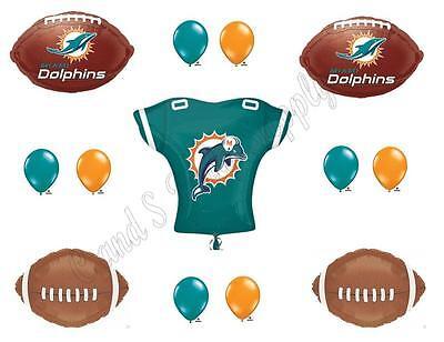 MIAMI DOLPHINS FOOTBALL Jersey Birthday Party Balloons Decoration Supplies - Party Supplies Miami