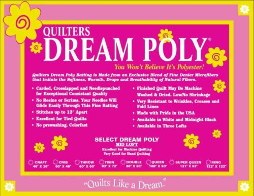 Quilters Dream Poly Select Batting-mid Loft King Size