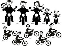 Motorcycle Family - Funny Novelty Car/Van/Window/Bumper Vinyl Sticker/Decal - Price incl. UK postage
