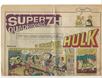 Super Quadrinhos ZH  Sept 1980 Portuguese Hulk Story! comprar usado  Enviando para Brazil