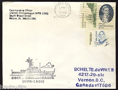 USCG Cutter Chincoteague WPB 1320 Mobile Alabama Postal Cover Envelope Cachet