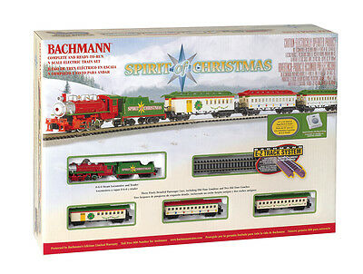 Bachmann N Gauge Spirit of Christmas Steam Train Set 24017 NIB NEW