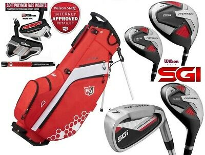 Wilson Prostaff SGI Mens Steel Complete Golf Club Set & Prostaff Stand Bag New