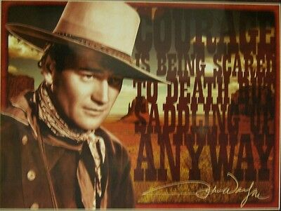 Jigsaw Puzzle Entertainment John Wayne Courage Is Being Scared To Death 1000 Pc