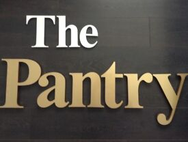 The Pantry shop sign
