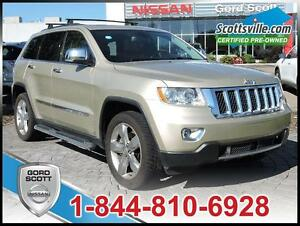 2012 Jeep Grand Cherokee Overland, Adaptive Cruise, Leather,Hemi