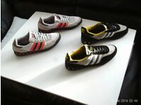 Adidas two pairs of Men's size 9's UK trainers used