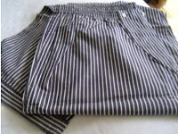 NEW with Tags, Pyjamas, XXL, QUALITY 100% Pure Cotton Striped Pyjama - Navy & White