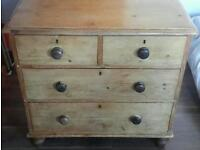 Beautiful Victorian solid pine chest of drawers