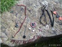 11 items black /red jewellery