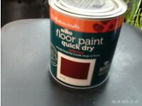 WILKO FLOOR AND STEP RED TILE PAINT new
