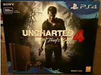 PS4 Uncharted 4 Bundle 500GB Jet Black Ideal Christmas Gift