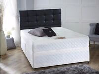 "FREE DELIVERY::: NEW Double Divan Bed Base £49 ONLY, With 10"" Royal Full Orthopaedic Mattress £109"