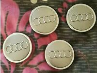 Four Audi wheel centre caps