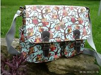 owl satchel / laptop shoulder bag