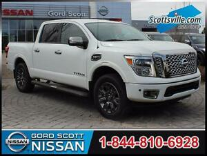 2017 Nissan Titan Platinum, Leather, Bose Audio, Sunroof, Nav