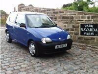 Fiat Seicento S In Blue. 2001 51 reg. MOT July 2017.