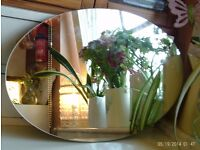 oval mirror 45 x 30 cm