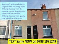 AMAZING: 3 Bed flat, Mapleton Road, Hartlepool. £75pw. Good location. NO BOND! READY TO LET-ACT NOW!