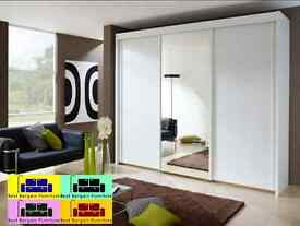 EXCLUSIVE GERMAN DESIGN MONACO 250 CM SLIDING WARDROBE ,AVAILABLE IN ALL COLOR AND SIZES