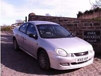 Chrysler Neon RT In Silver, 2001 51 reg, Service History, 21 Service Stamps, Last Owner From 2008