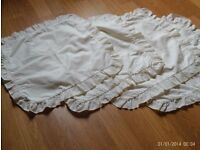 4 cream zipped cushion covers, 37 x 37 cm not including frills