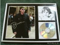 U2 Boy framed collectors set 42 x 32 cm