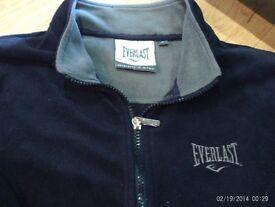 new EVERLAST navy full zip up fleece , size 8