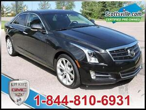 2013 Cadillac ATS 3.6L Premium, Nav, HUD, Sunroof, One Owner