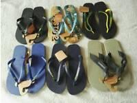 6 pairs of new Havaianas Men's flip flops