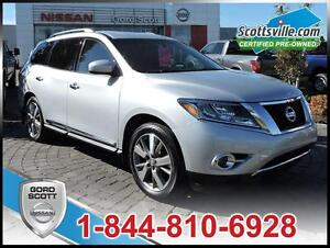 2014 Nissan Pathfinder Platinum, Nav, Sunroof, Leather, 1 Owner