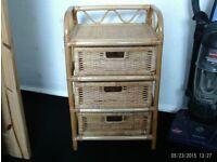 wicker bedside table for sale