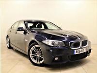 BMW 5 SERIES 2.0 520D M SPORT 4d AUTO 188 BHP + 1 PREV OWNER + SERVICE HISTORY (black) 2014