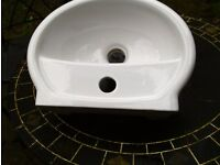 Small white bathroom basin