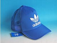 ADIDAS ORIGINAL MENS/WOMENS BLUE BASEBALL CAPS