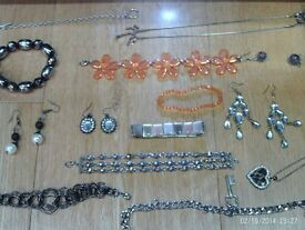 assortment of mixed jewellery